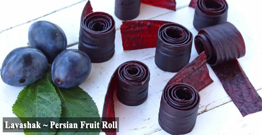 Lavashak ~ Persian Fruit Roll